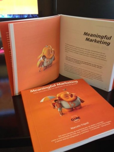 Foto da Capa do livro Meaningful Marketing, de Marcelo tripoli
